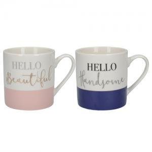 His and Hers Set of 2 Mugs